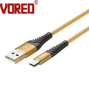 VORED мягкий эластичный TPE Тип C кабель USB зарядное устройство мобильный телефон кабель для зарядки 1 метр Q1