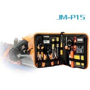 Image 2 - 17 in 1 repair Tool Kit Elektronische RJ45 RJ11 LAN Tester Networking tester Netzwerk Kabel Tracker Zange Crimp Crimper Stecker clamp