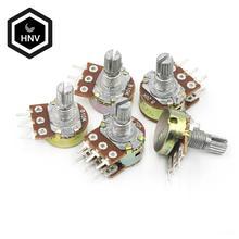 5 шт./лот WH148 1-10K 20K 50K 100K 500K Ohm 15 мм 3 штифта линейный подшипник с коническим поворотный потенциометр резистор для Arduino с AG2