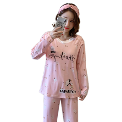 Conjunto de pijamas para mulheres primavera terno