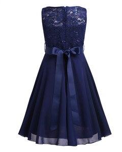 Image 4 - אלגנטי ילדי בנות פרח נסיכת טול תחרה שמלת תינוק ילדים המפלגה שושבינה כדור שמלת טוטו שמלות ילדי בגדים