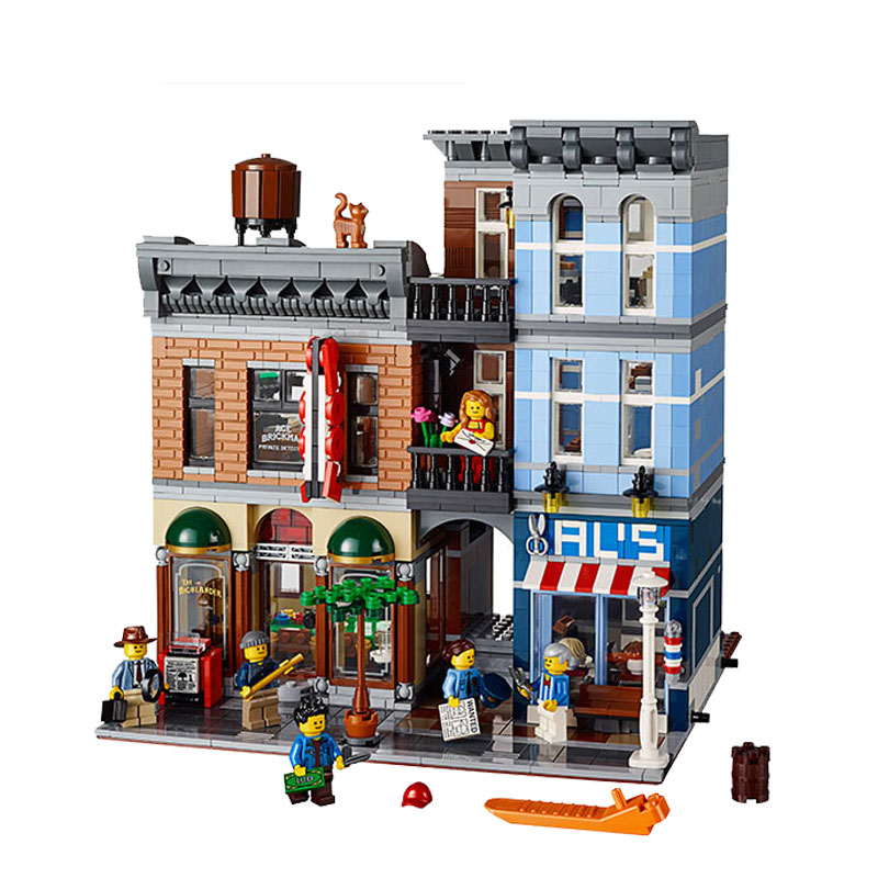 DHL 10246 Creator Detective Office 15011 2262Pcs Street View Model Building Kits Blocks Bricks Education Toys
