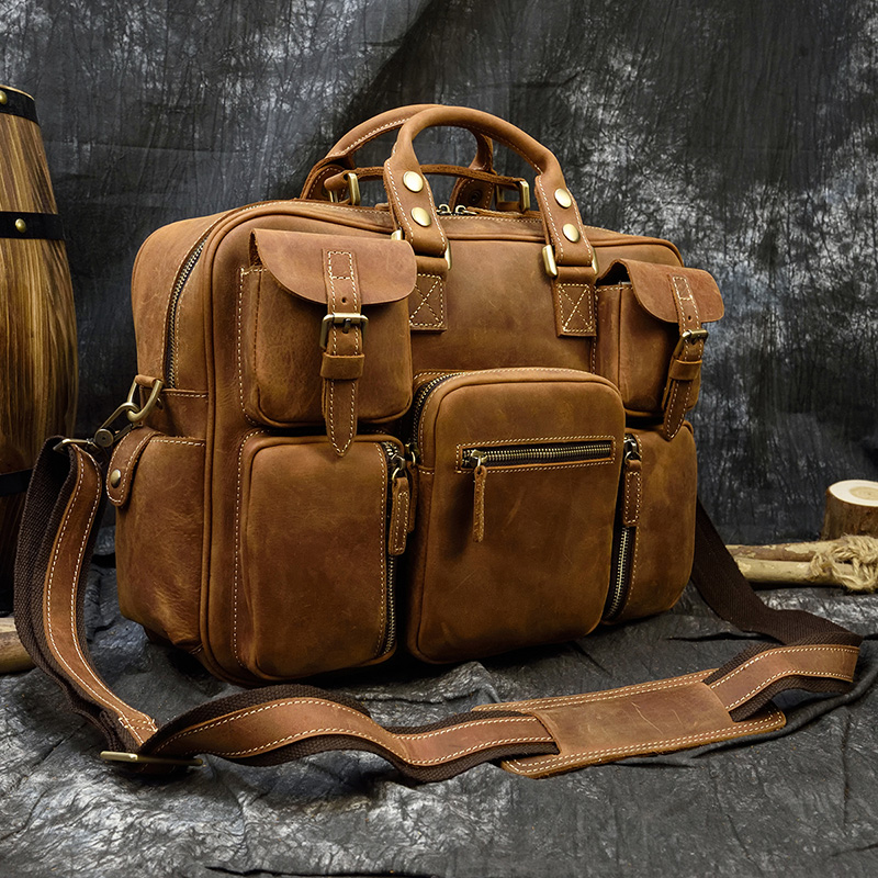 """Hc5f9b3b7a0cd482b86454cf158f6f3638 MAHEU Men Briefcase Genuine Leather Laptop Bag 15.6"""" PC Doctor Lawyer Computer Bag Cowhide Male Briefcase Cow Leather Men Bag"""