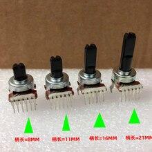 1 pçs/lote pjiap Switch Tipo 121 de Rádio de Áudio Volume de ajuste de Volume do amplificador potenciômetro 6 pés B50K A50K