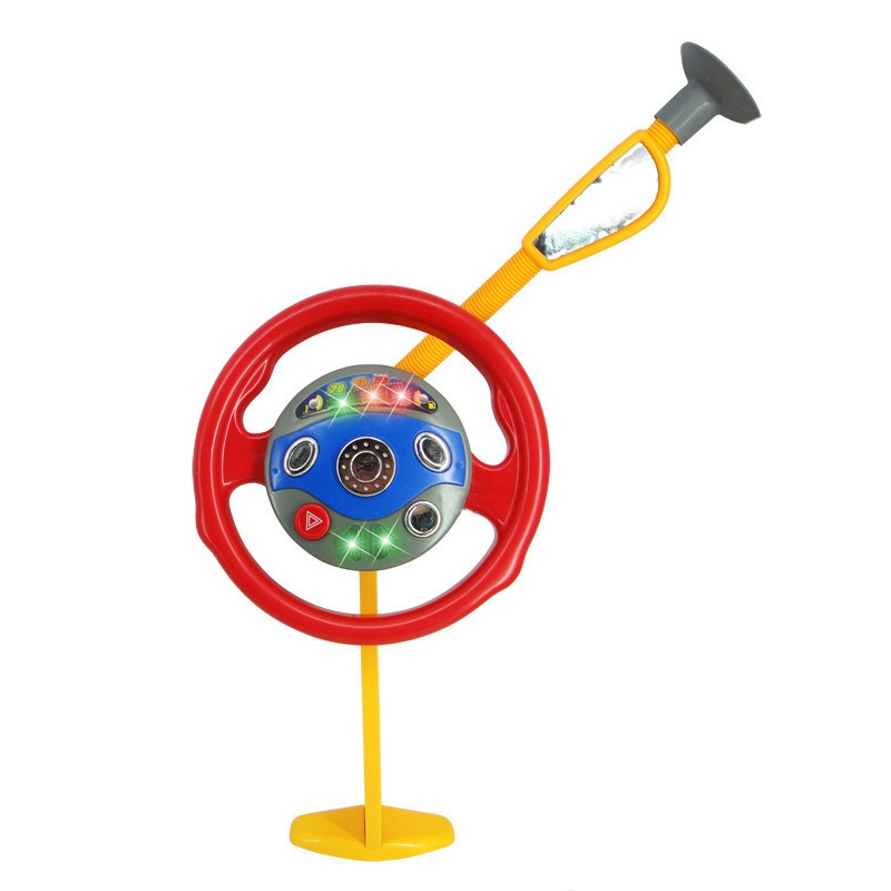 Children's Backseat Steering Wheel <font><b>Toy</b></font> <font><b>Electronic</b></font> Driver <font><b>Car</b></font> Game Children's New Year's Eve Christmas Gift image