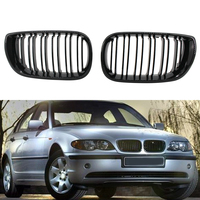 A Pair Car Style Gloss Black Kidney Front Grilles for BMW E46 3 Series 4 Door 318I 320I 325I 330I 2002-2005 N13