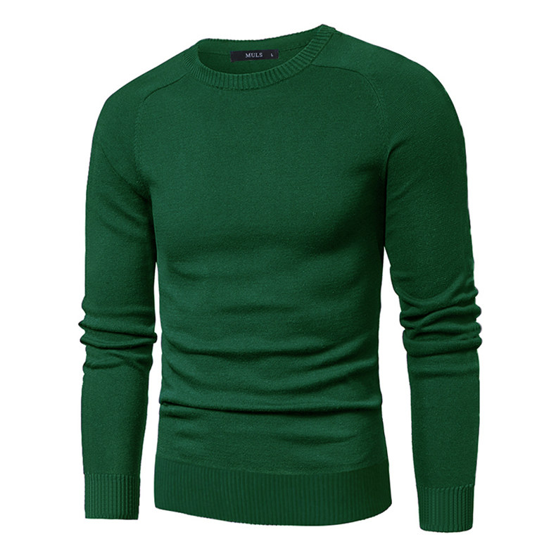 MuLS 2019 Sweater Pollovers Men Casual Cotton Knitted Sweater Jumper Pullover Round-Neck Knitwear Polo Jersey Men Plus Size 5XL 05