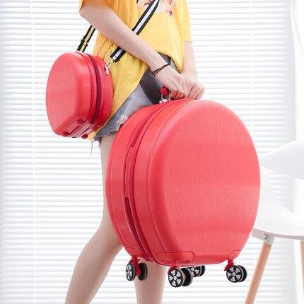 Set Round Suitcase And Shoulder Bag