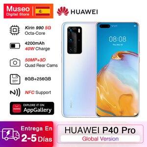 Глобальная версия Huawei P40 Pro 8G 256G Kirin 990 5G камера для смартфона четыре раза 50MP 6,58 'суперзарядка 40W