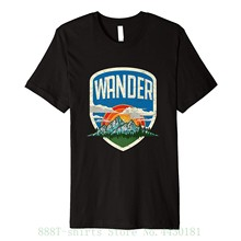 Women's Tee Wander - Vintage Mountains & Nature Outdoors T S