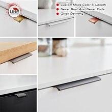 Uke для мебели ручка ящика Твердый алюминиевый сплав Скрытая