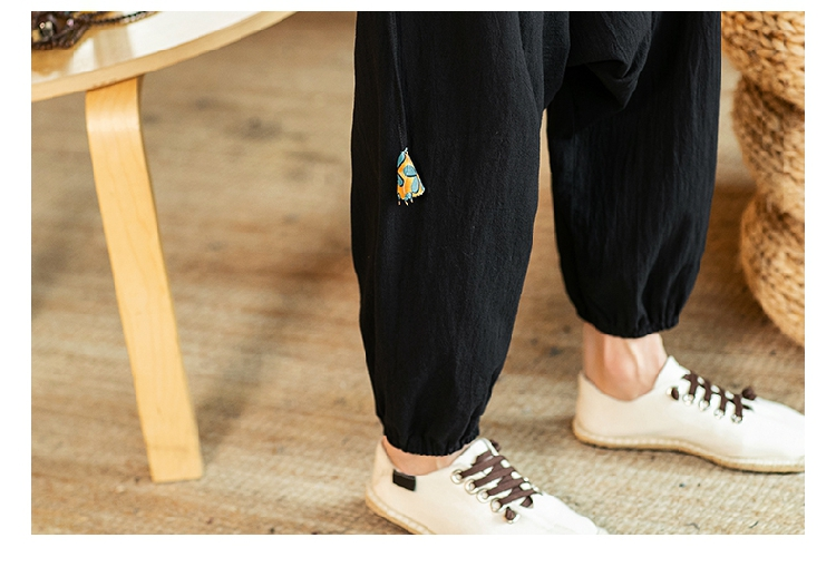 Sinicism Store Chinese Cross-Pants Men 2020 Autumn Oversize Fashion Mens Patchwork Button Pants Male Wide-legged Loose Pants 63