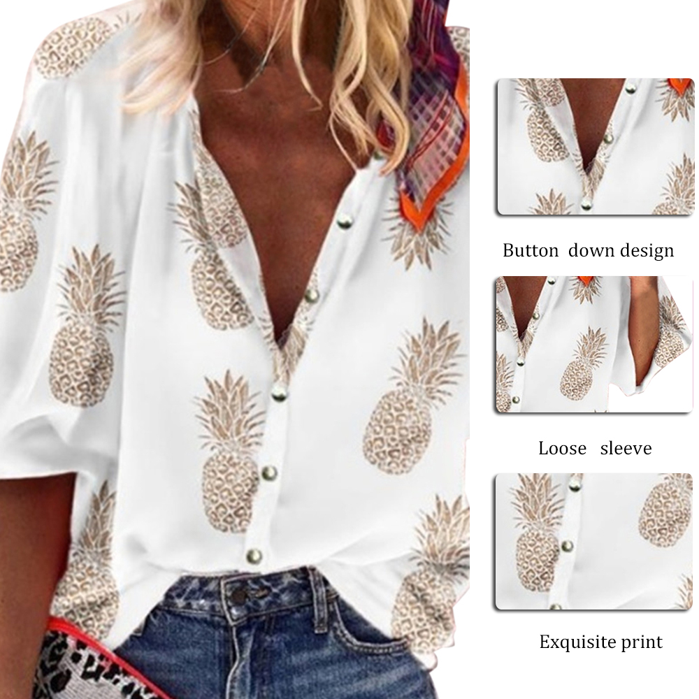 New Long Sleeve Women's Shirt Blouse Autumn Office Lady Blouses For Women Tops 2020 Summer Vintage Button Female Shirts
