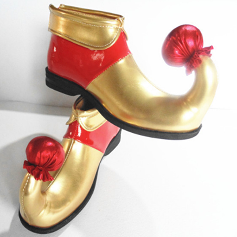 golden red clown shoes clown cosplay supplies clown cosplay accessories funny cosplay shoes halloween shoes