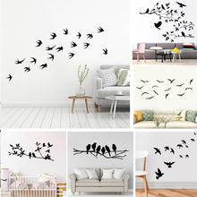 Hot Sale Bird Vinyl Wall Sticker For Home wall Decor Murals Stickers living room decorative Animals stickers on the wall hot sale welcome sweet home wall sticker for living room