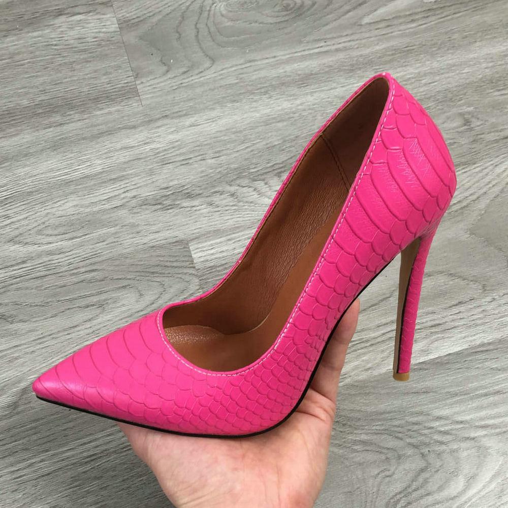 Sapato stiletto feminino com estampa de peixe, sapato de salto alto para mulheres, vestido, preto, bege, rosa