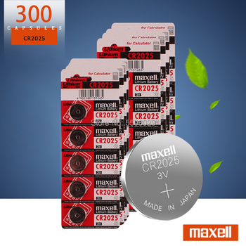 Original brand For maxell 300pc cr2025 ECR2025 BR2025 DL2025 KCR2025 LM2025 3v button battery coin lithium battery for watch
