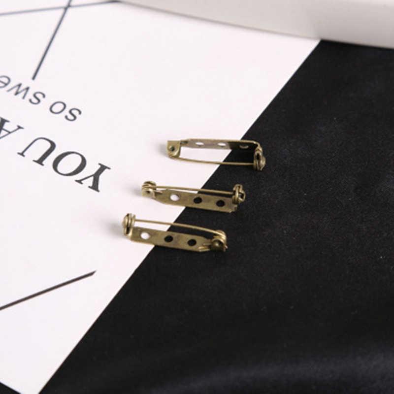 30 Pcs 27X5 Mm Baru Emas/Perunggu Besi Berlapis Bros Dasar Belakang Bar Pemegang Lencana Kunci Yang Aman pins DIY Temuan Perhiasan Aksesoris