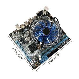 1Set HM55 Computer Motherboard I3 I5 Lga 1156 4G Memory Fan Desktop Mainboard