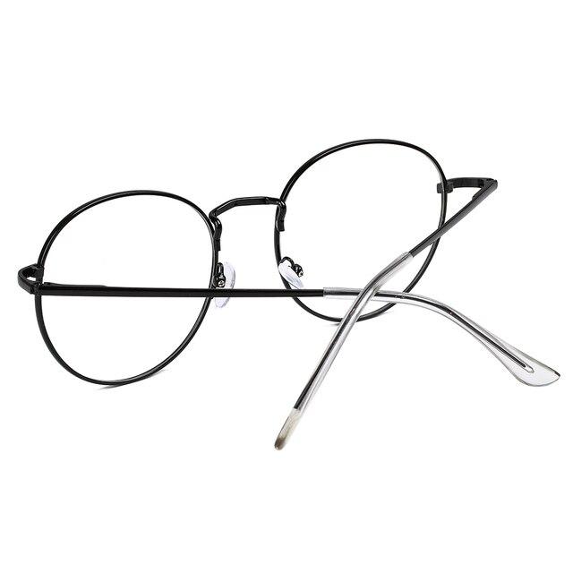 Occhiali da Vista Rotondi Unisex in Metallo 5