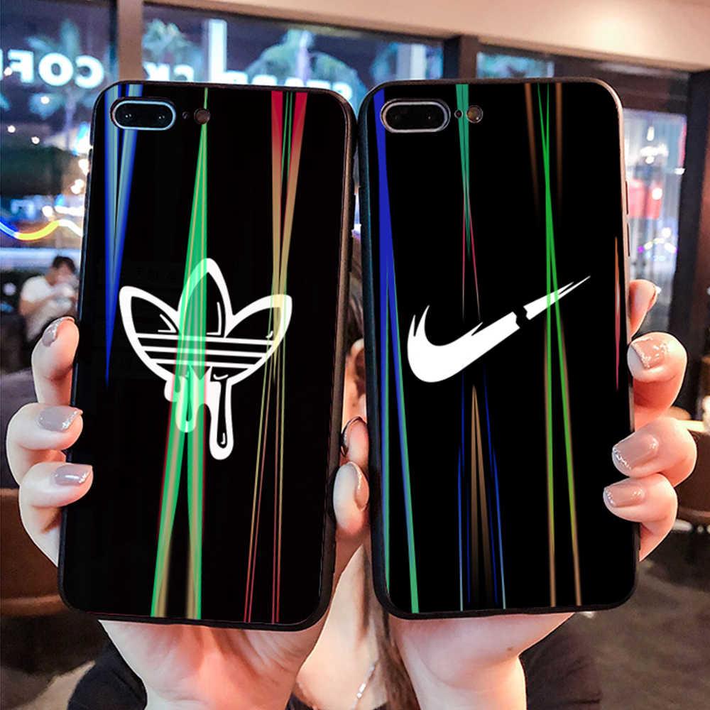 Фото Спортивный брендовый чехол для телефона Модный из закаленного стекла iphone 6 6S 7 8 Plus