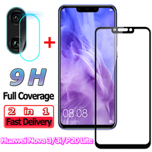 2 in 1 Screen Protector for Huawei Nova 3 i P20 Lite Tempered Glass 3i Camera Lens Protective
