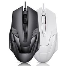 Mysz do gier 3 przycisk 1200 DPI cicha mysz USB przewodowa myszka komputerowa wygodna uniwersalna mysz ergonomiczna dla Gamer Home Office cheap centechia CN (pochodzenie) Przewodowy Mini Akumulator DW236503 Prawo 128*70*30mm 120cm Silent version with sound version