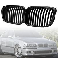 Car Style Matte Black Grill Front Grill Black Wide Kidney Grille for BMW E39 5 series 1997 1998 1999 2000 2001 2002 2003 2pcs