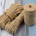 4/6/8/10 мм веревки из натурального джута шпагат веревка конопли скрученный шнур из керамического волокна макраме строка сделай сам, поделки р...