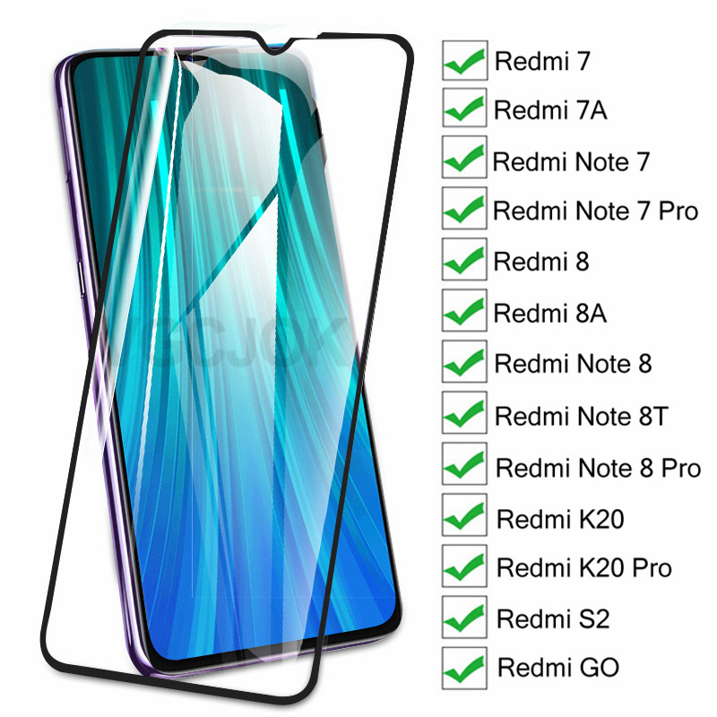 9D Protective Glass On The For Xiaomi Redmi 7 7A 8 8A K20 S2 GO  Redmi Note 7 8 Pro 8T Tempered Glass Screen Protector Film Case