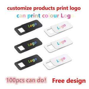 Webcam-Cover Logo Shutter Slider Camera for 100-1000pcs Custom-Products Rectangle Ultra-Thin