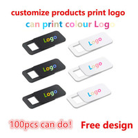100-1000 pces produtos personalizados impressão livre logotipo retângulo webcam capa ultra fina obturador slider camera lens cover para o seu logotipo