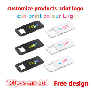 Image 1 - 100 1000pcs custom products Free print logo rectangle WebCam Cover Ultra Thin Shutter Slider Camera Lens Cover for Your logo