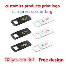 Logotipo de impresión gratuita para cámara web, productos personalizados, cubierta rectangular para cámara web, obturador ultrafino, cubierta para lente de cámara para su logotipo, de 100 a 1000 Uds.