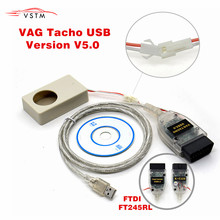 2019 Vagtacho USB Versie V 5.0 VAG COM Tacho V5.0 Voor NEC MCU 24C32 of 24C64 Gratis Verzending