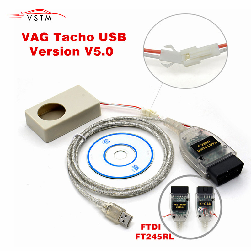 2019 Vagtacho USB Version V 5.0 Tacho V5.0 For NEC MCU 24C32 Or 24C64 Free Shipping
