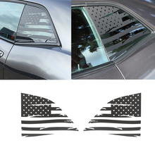 for Dodge Challenger 2008 2020 Car Rear Window Decoration Stickers American Flag Style Car Exterior Accessory Black/Carbon Fiber