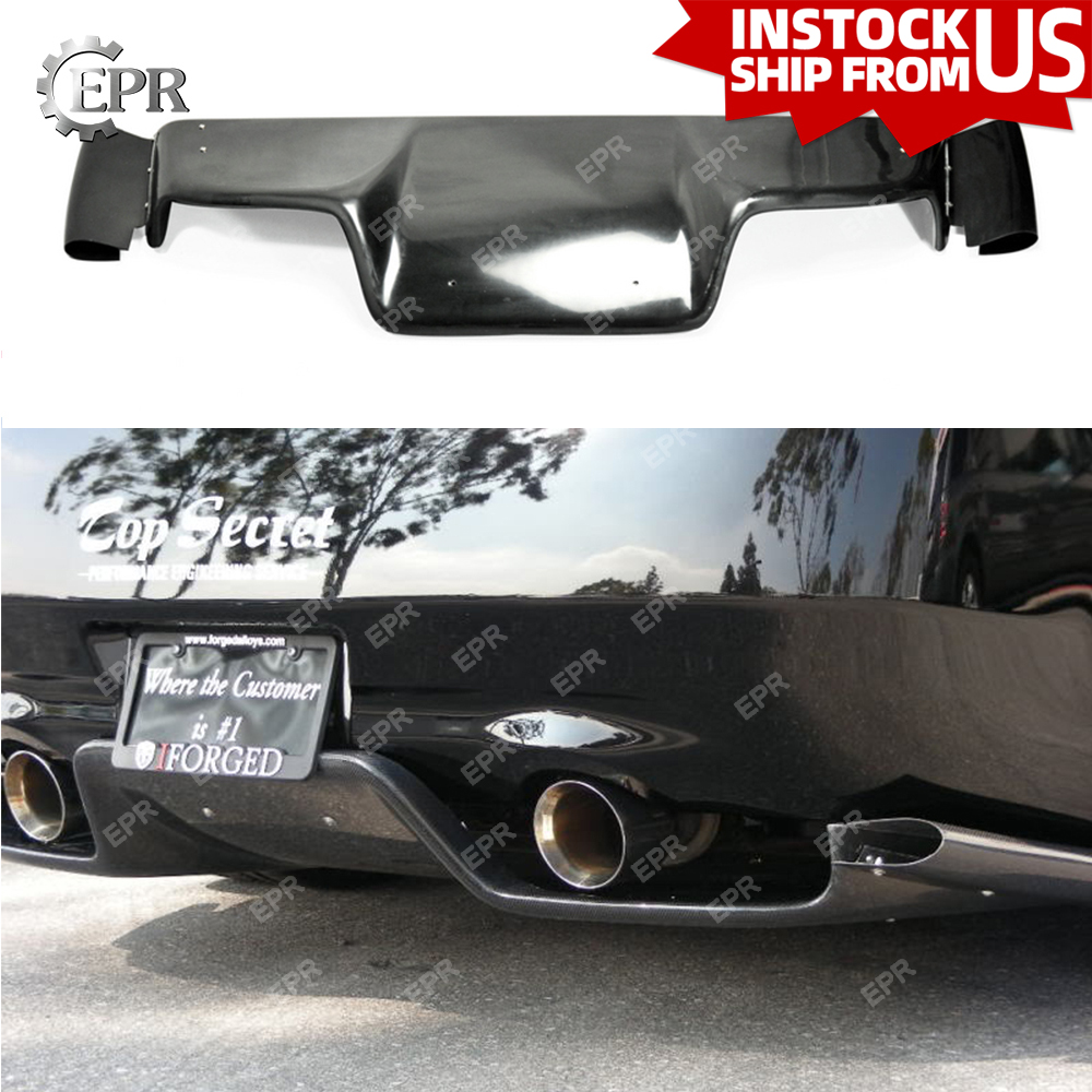 For Nissan Z33 350Z (2003-2008) Glass Fiber Infiniti G35 Coupe 2D JDM TS Style Fiberglass Rear Diffuser (with fitting)