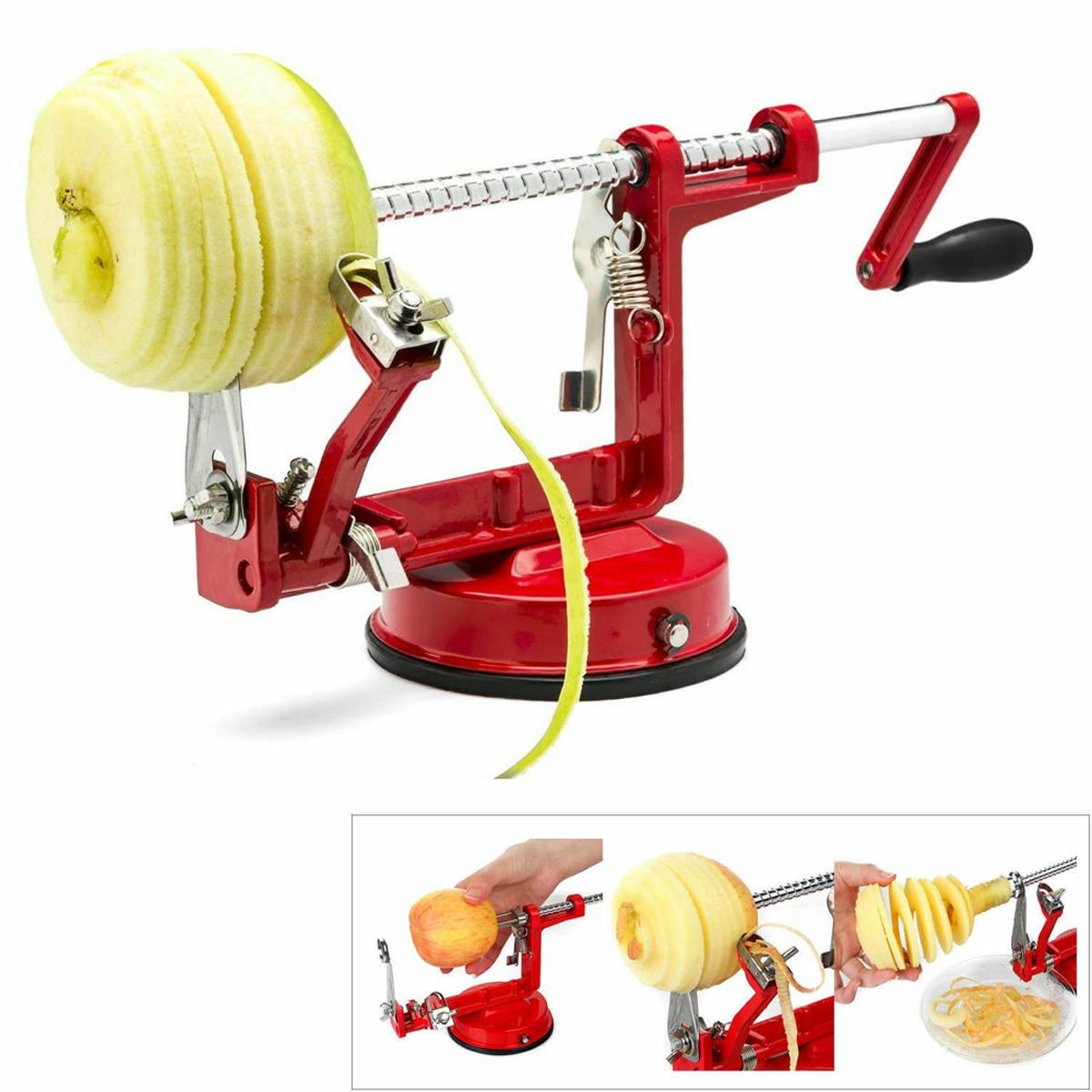 Owoce jabłko obieraczka Corer krajalnica Slinky maszyna nóż do ziemniaków narzędzie kuchenne 3 w 1