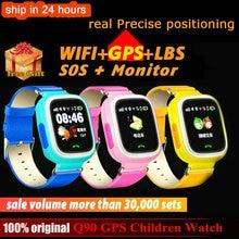 Q90 GPS Детские умные часы определение местоположения телефона детские часы WIFI SOS 1,22 дюйма цветной сенсорный экран умные детские часы VS Q12 Q15