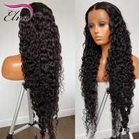 Elva, diadema nueva, peluca con ondas de agua, pelo humano brasileño Remy, medias pelucas de Color Natural, pelucas sin pegamento para mujeres negras