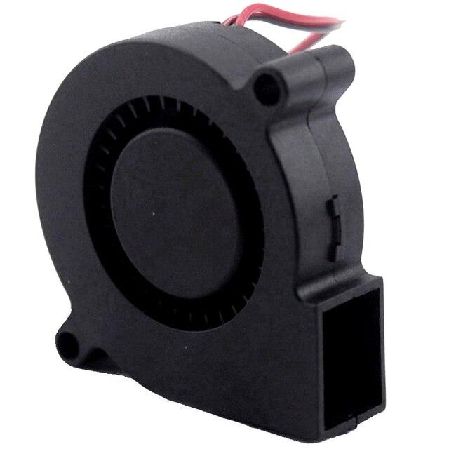 Gdstime 50mm 5015 wentylator dmuchawa DC 5V 12V 24V dla części drukarki 3D odśrodkowe wentylatory chłodzące 50x50x15mm Turbo Cooler 2Pin USB