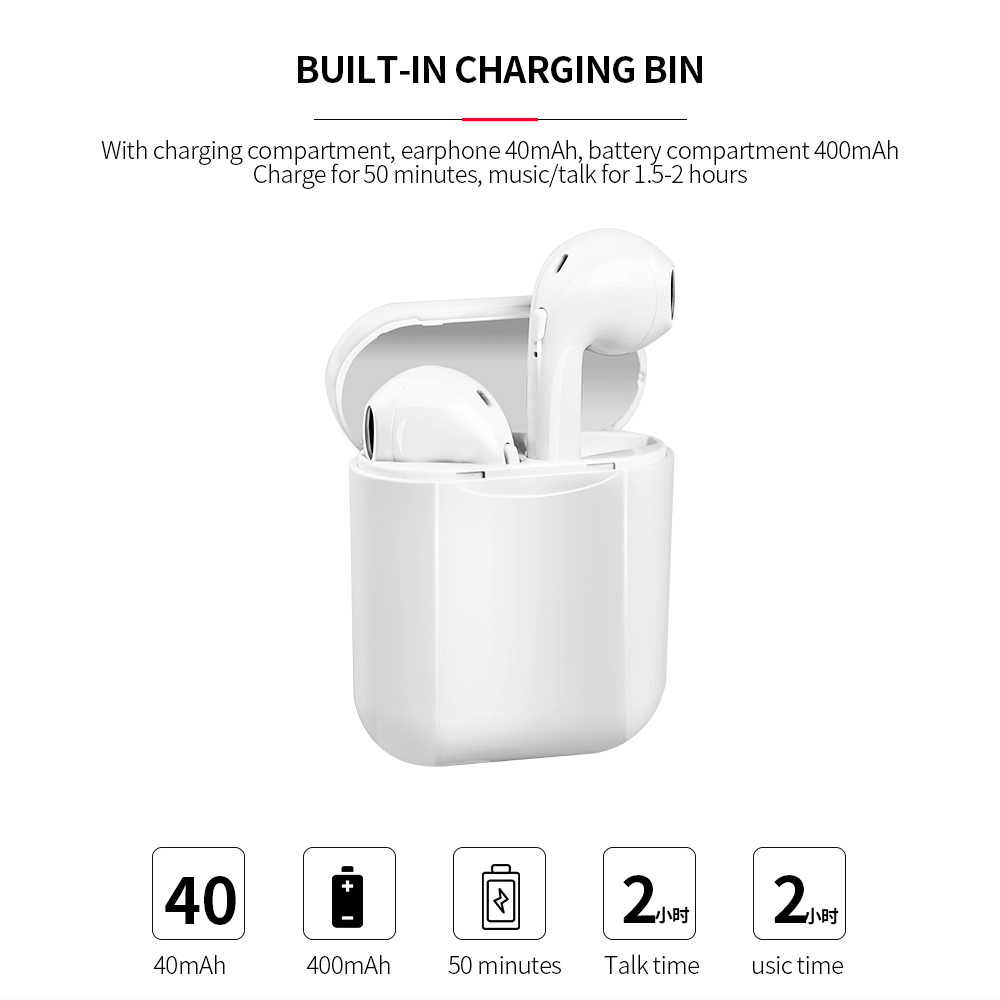 I11S Bluetooth 5.0 Earphone Tws Wireless Headphone Blutooth Earphone Handsfree Headphone Earbud Headset Gaming Telepon