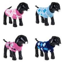 Зимний свитер для собаки щенка узор в шотландском стиле вязаный