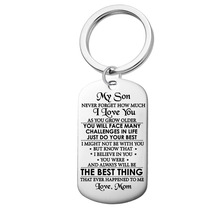 New stainless steel jewelry TO MY SON military brand necklace stainless steel dog tag can be customized lettering gift new stainless steel
