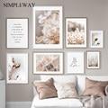 Скандинавская природа, растения, цветы, холст, картина, скандинавский постер, зимний пейзаж, растительный принт, Настенная картина, украшени...