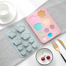 Dog Paw Silicone Mold Baking Food Grade Flexible Silicone Mold For Baking Chocolate Molds Nonstick Cake DIY Tool Icing Tracy ballet skirt cakes molds food grade silicone sugar chocolate cake cookies mold diy decorating baking tool