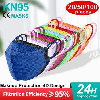 Mascarilla kn95 ffp2con certificado ce, máscara de belleza, moderna, ffpp2, protección eficiente,...