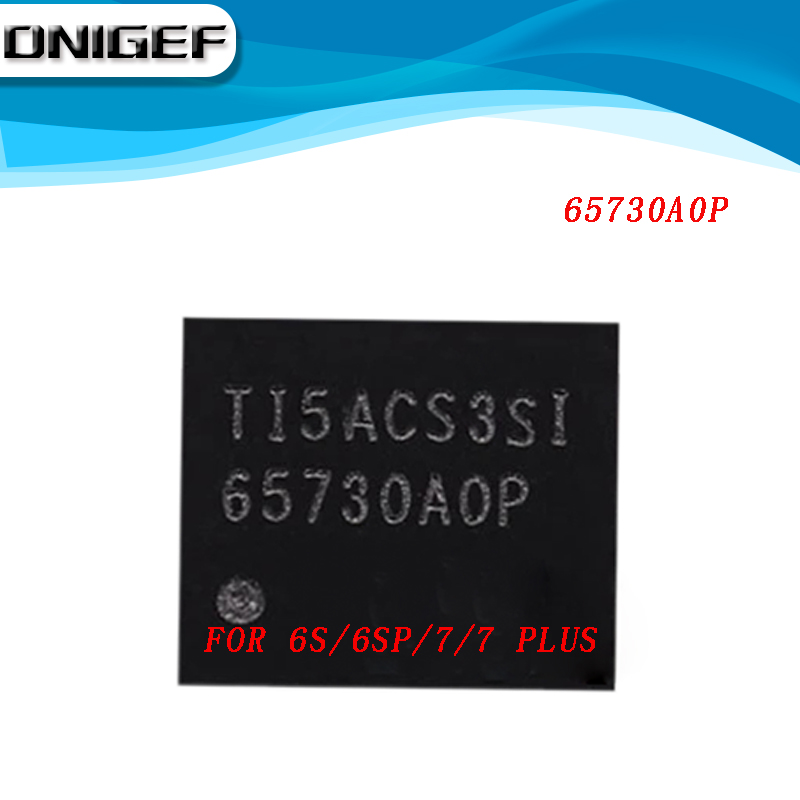 100% nuevo 65730A0P 65730 para iPhone 5S/5C/6/6 plus U1501 6S/6SP U4000/7/7Plus U3703 pantalla LCD IC Castaño chip 20 pines Chipset