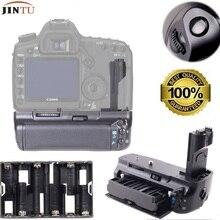 Jintu câmera aperto de bateria vertical (substituição para canon BG-E6 grip) para canon eos 5dii 5d2 5dii 5d2 trabalho LP-E6 bateria